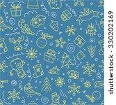 christmas seamless pattern.... | Shutterstock .eps vector #330202169