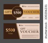 gift voucher template | Shutterstock .eps vector #330206231