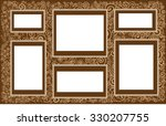 oriental arabesque brown beige... | Shutterstock .eps vector #330207755