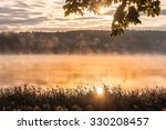 Autumnal Morn In Front Of Lake. ...