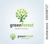 green forest  people and tree...   Shutterstock .eps vector #330208727