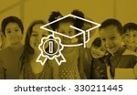 academic graduation hat... | Shutterstock . vector #330211445