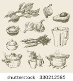 vector hand drawn food sketch... | Shutterstock .eps vector #330212585