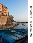 little harbor with boat at... | Shutterstock . vector #3302130