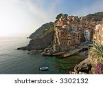 panoramic view at sunset of... | Shutterstock . vector #3302132