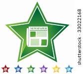 newspaper star   Shutterstock .eps vector #33022168