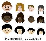 family of four. african ... | Shutterstock .eps vector #330227675