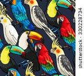 vector macaw  toucan and...   Shutterstock .eps vector #330228734