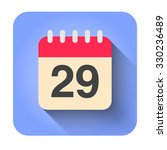 flat calendar icon vector... | Shutterstock .eps vector #330236489