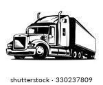 American Truck Trailer Black...
