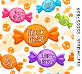 seamless trick or treat pattern ... | Shutterstock .eps vector #330237839