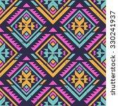 neon multicolor tribal navajo... | Shutterstock .eps vector #330241937
