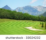 alpine golf course | Shutterstock . vector #33024232