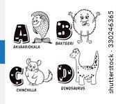finnish alphabet. aquarium fish ... | Shutterstock .eps vector #330246365