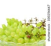 green grapes on white background | Shutterstock . vector #330256667