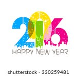 creative happy new year... | Shutterstock . vector #330259481