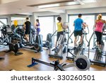 fit people working out using... | Shutterstock . vector #330260501