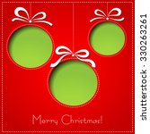 merry christmas paper greeting... | Shutterstock . vector #330263261