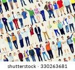 multiethnic casual people... | Shutterstock . vector #330263681