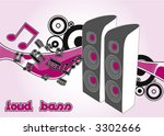 vector speaker | Shutterstock .eps vector #3302666