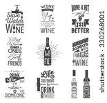 set of vintage wine typographic ... | Shutterstock .eps vector #330268001
