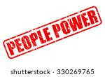 people power red stamp text on...