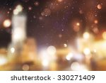 winter night street  blurred... | Shutterstock . vector #330271409