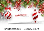 christmas background with fir... | Shutterstock .eps vector #330276575