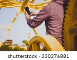 close view of woman holding... | Shutterstock . vector #330276881