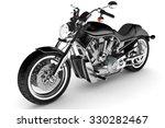 black motorbike isolated. | Shutterstock . vector #330282467