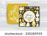 vector circular wreath ... | Shutterstock .eps vector #330285935