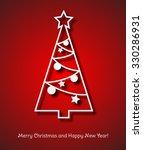 christmas tree paper background.... | Shutterstock . vector #330286931