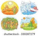 set of four different climatic... | Shutterstock .eps vector #330287279