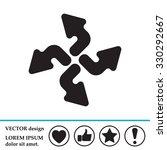 arrow icon set   Shutterstock .eps vector #330292667