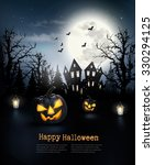 spooky halloween background... | Shutterstock .eps vector #330294125