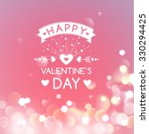 happy valentines day greeting... | Shutterstock .eps vector #330294425