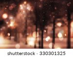 winter night street  blurred... | Shutterstock . vector #330301325