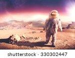 astronaut walking on an...   Shutterstock . vector #330302447