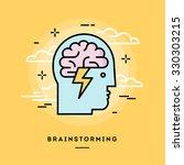 concept of brainstorming  line... | Shutterstock .eps vector #330303215