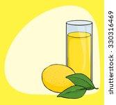 glass of fresh juice  lemon ... | Shutterstock .eps vector #330316469