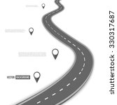 vector path on the road.... | Shutterstock .eps vector #330317687