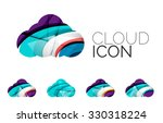 set of abstract cloud computing ... | Shutterstock .eps vector #330318224