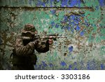 U.S. Marine corps Soldier is ready to fight