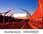white empty billboard on night... | Shutterstock . vector #330320825