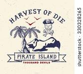 61 pirate island. handmade... | Shutterstock .eps vector #330328265