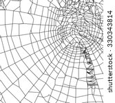 spiderweb silhouette | Shutterstock .eps vector #330343814