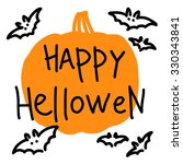 halloween card with a picture... | Shutterstock .eps vector #330343841