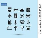 transport  icons  | Shutterstock .eps vector #330349145