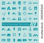set of summer flat icons | Shutterstock .eps vector #330349265