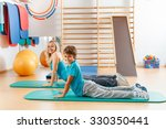happy  sports family  mother... | Shutterstock . vector #330350441